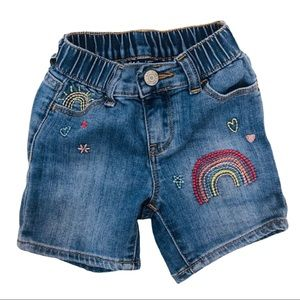 GAP toddler shortie shorts denim embroidered
